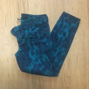 Express Patterned Skinny Jeans